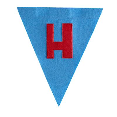 H Print Neatly Pennant Flag (Boy)