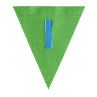 I Print Neatly Pennant Flag (Boy)
