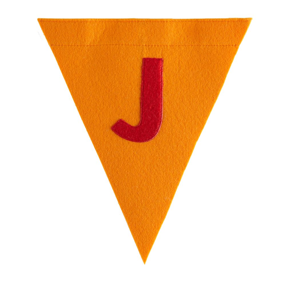 J Print Neatly Pennant Flag (Boy)