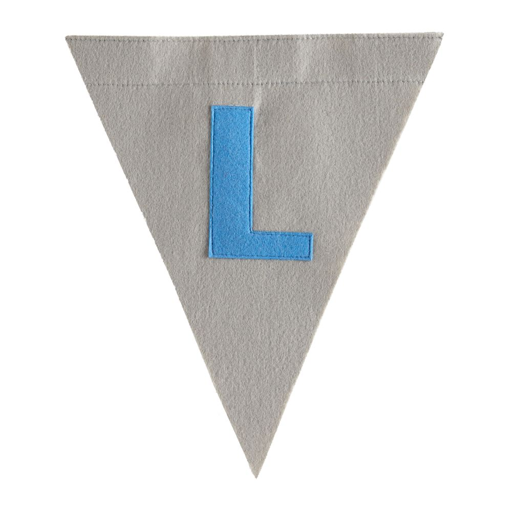L Print Neatly Pennant Flag (Boy)