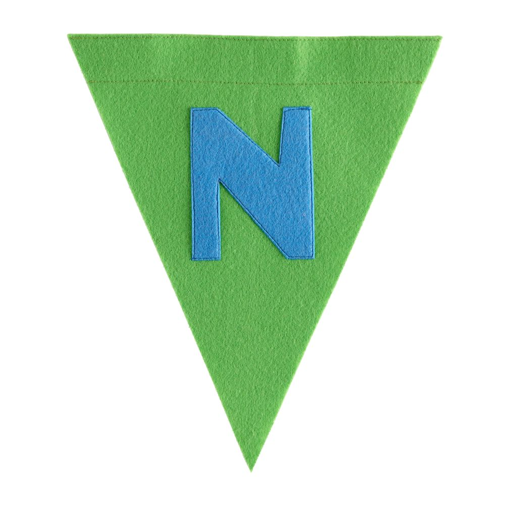 N Print Neatly Pennant Flag (Boy)