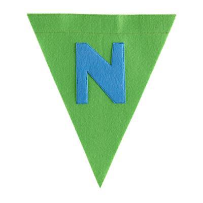N Print Neatly Pennant Flag (Boy)
