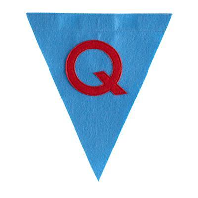Q Print Neatly Pennant Flag (Boy)