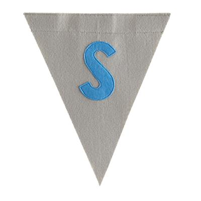 S Print Neatly Pennant Flag (Boy)