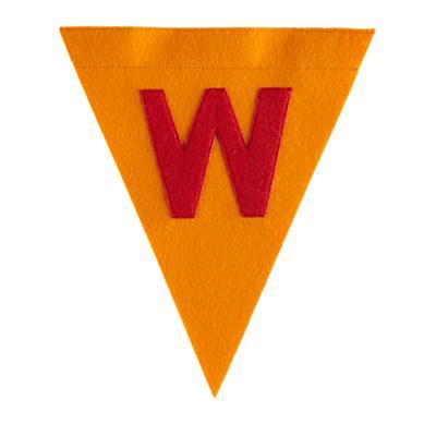 W Print Neatly Pennant Flag (Boy)