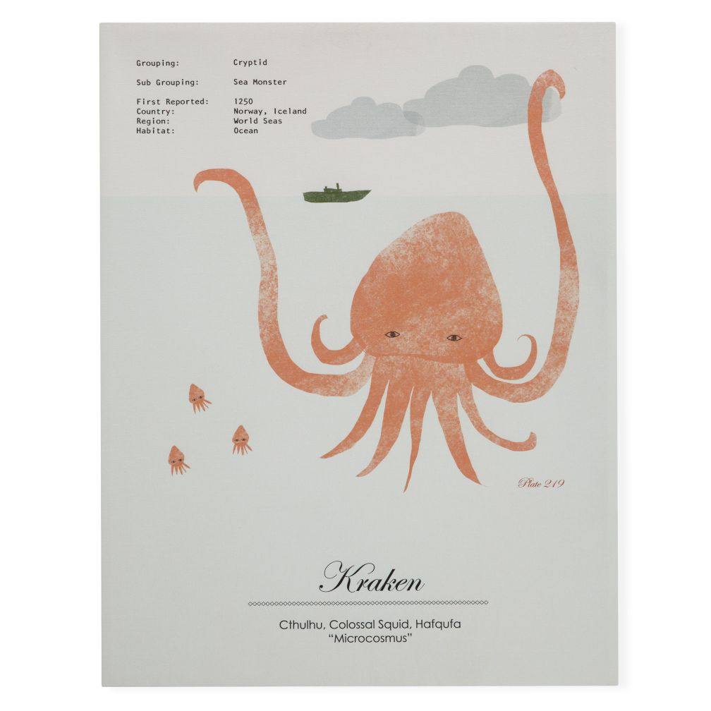 Rare Sightings Wall Art (Kraken)