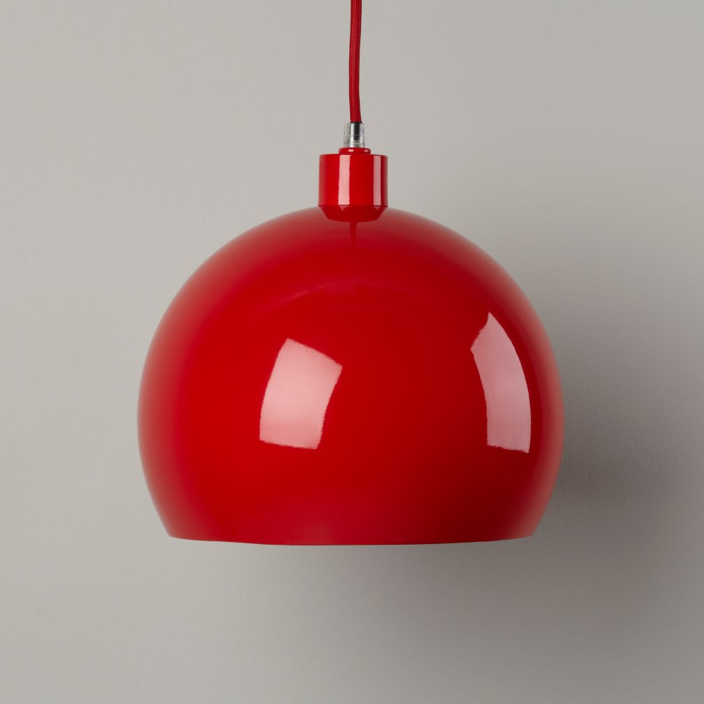 Pop of Color Pendant Shade (Red Circle)