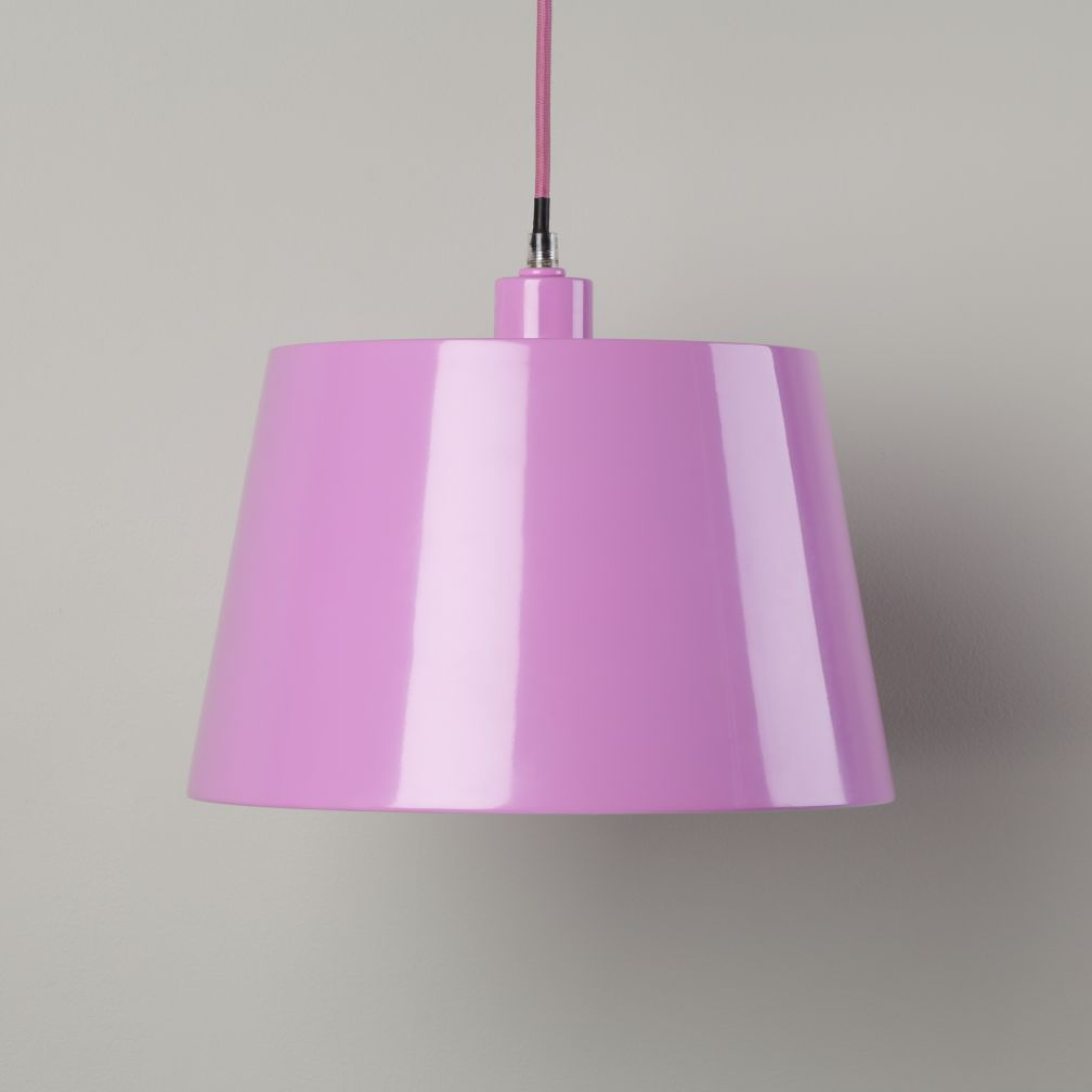 Pop of Color Pendant Shade (Lavender Rectangle)