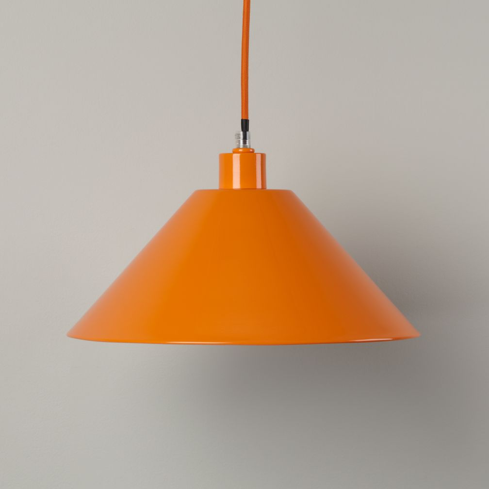 Pop of Color Pendant Shade (Orange Triangle)