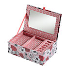 Pink Flower Girl Jewelry Box