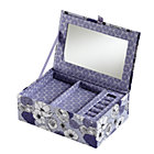 Purple Flower Girl Jewelry Box