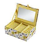 Yellow Flower Girl Jewelry Box