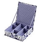 Purple Flower Girl Collection Box