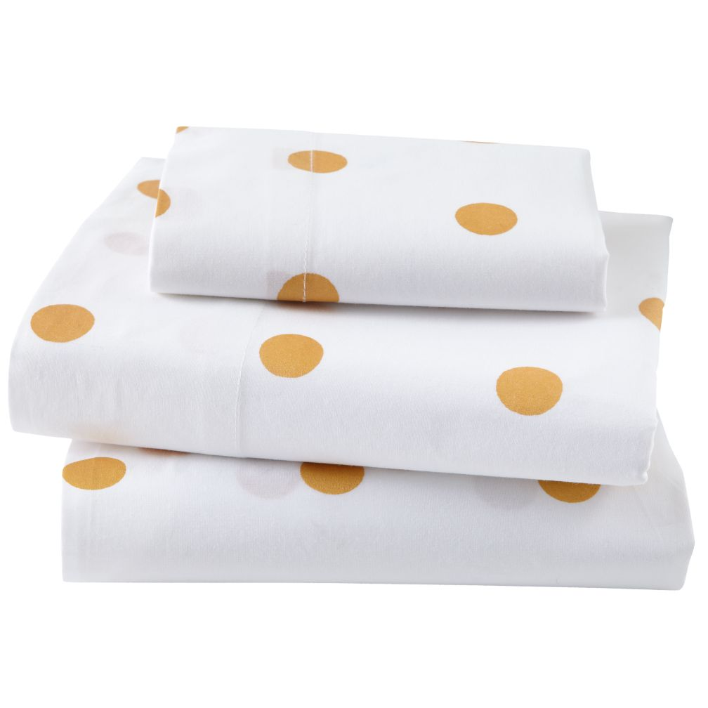 Toddler Sheet Set (Gold Dot)