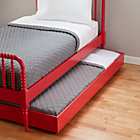 Raspberry Jenny Lind Trundle Bed