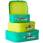Bright Green/Lime Bon Voyage Suitcases Set of 3