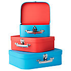 Blue/Red Bon Voyage Suitcase Set/3