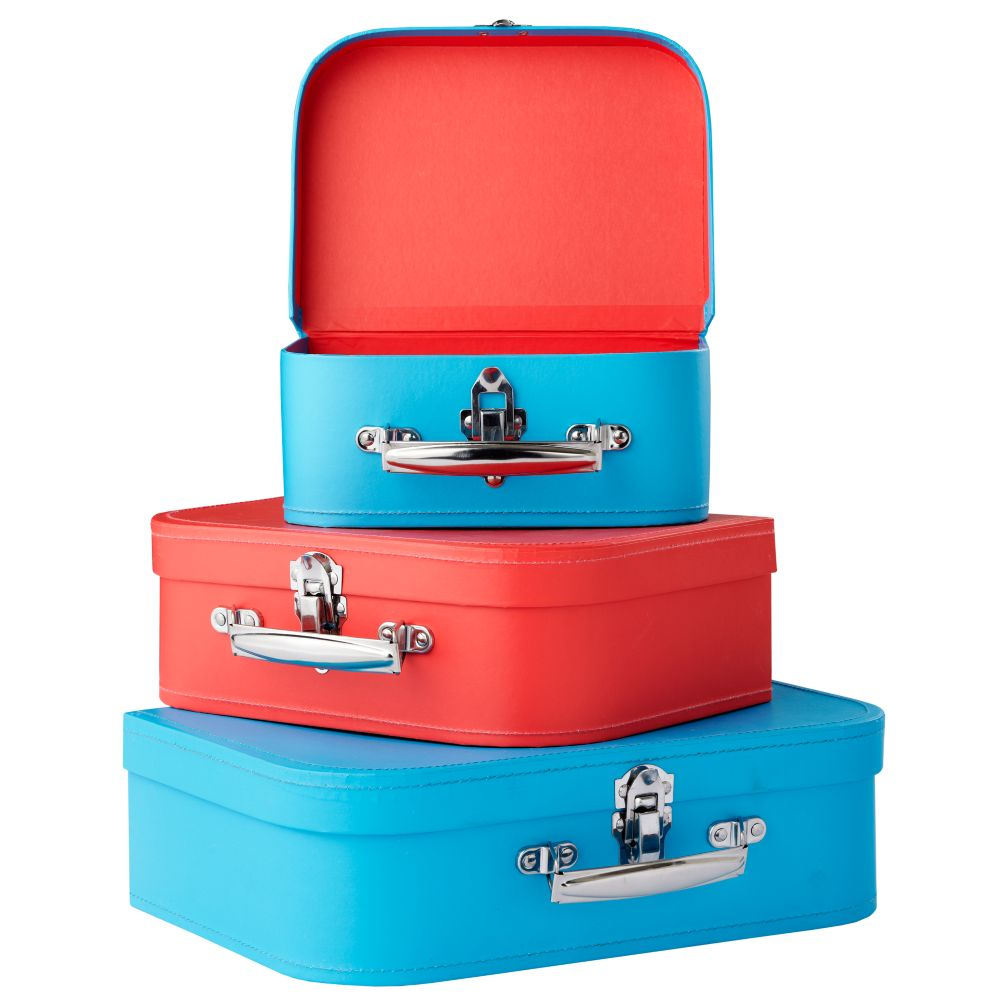 Bon Voyage Suitcase (Blue/Red)