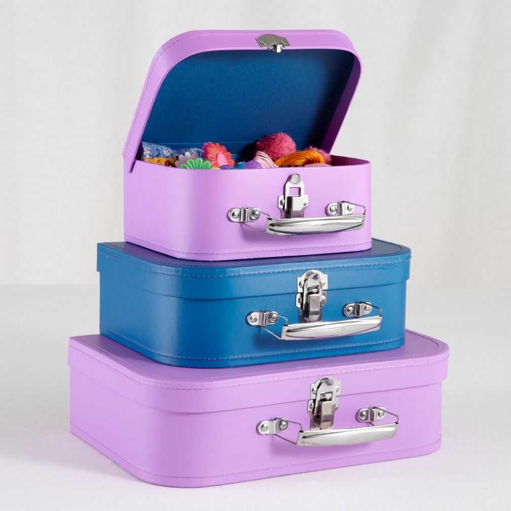 Bon Voyage Suitcase Set (Purple/Blue)