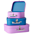 Purple/Blue Bon Voyage Suitcase Set/3