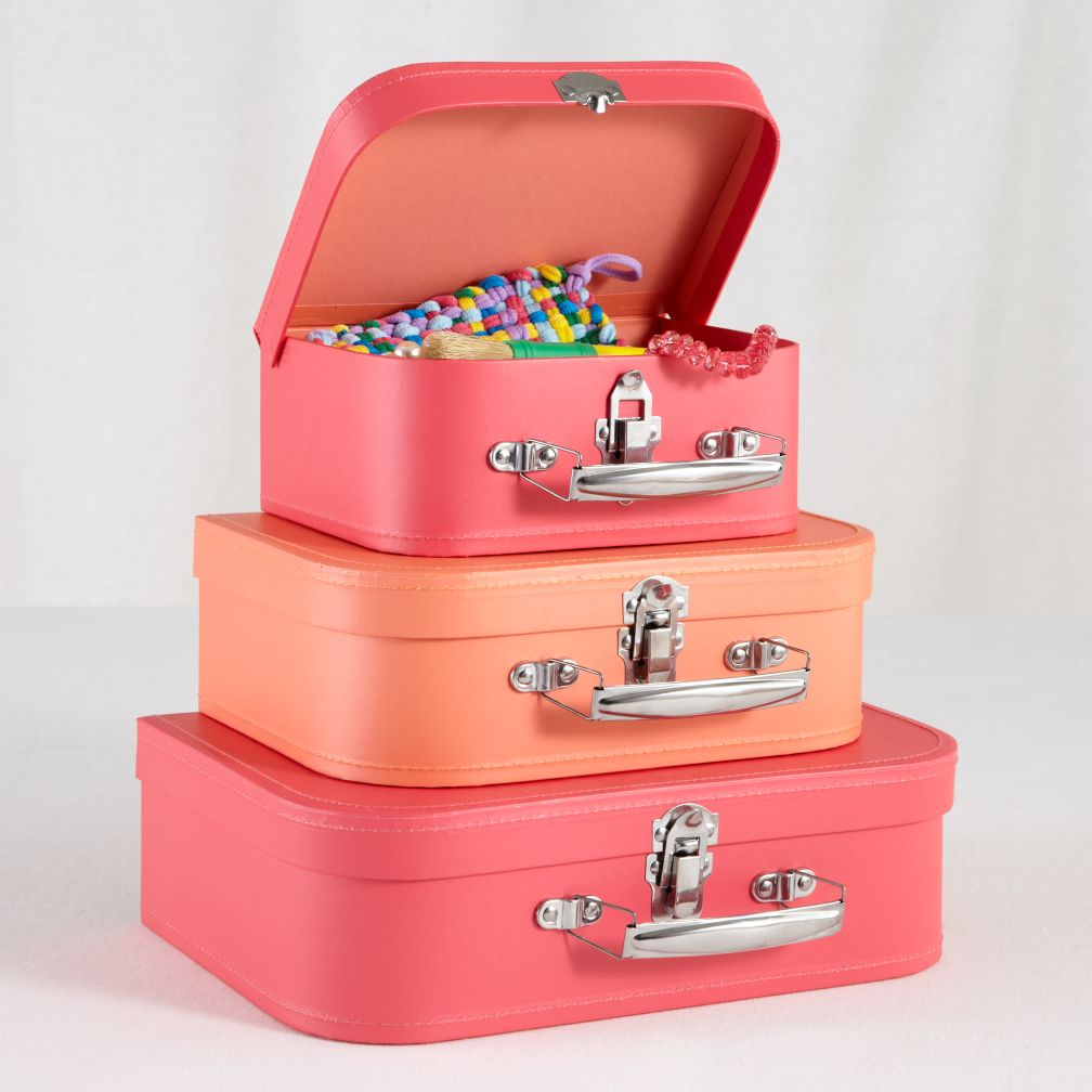 Bon Voyage Suitcase Set (Pink/Peach)