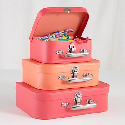 Bon Voyage Suitcase Set (Pink/Peach)