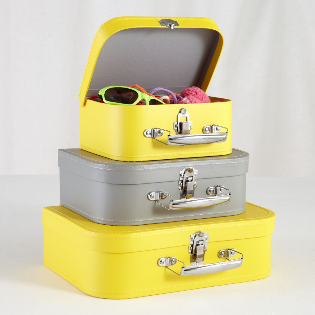 Bon Voyage Suitcase Set (Yellow/Grey)
