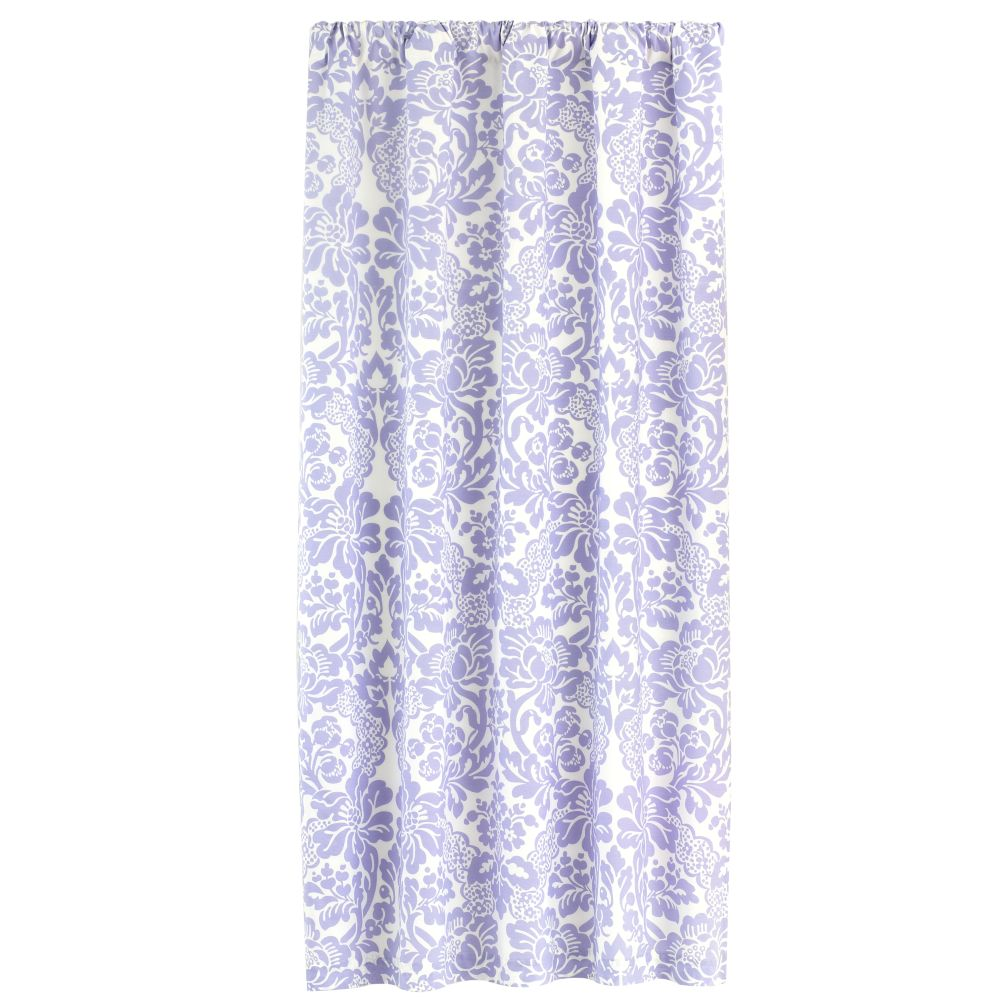 84&quot; Wallpaper Floral Curtain Panel (Lavender)