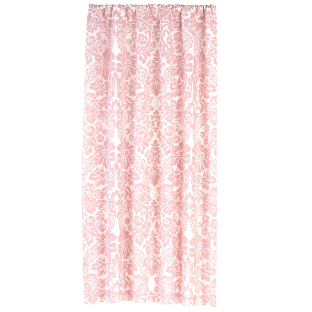 84&quot; Wallpaper Floral Curtain Panel (Pink)