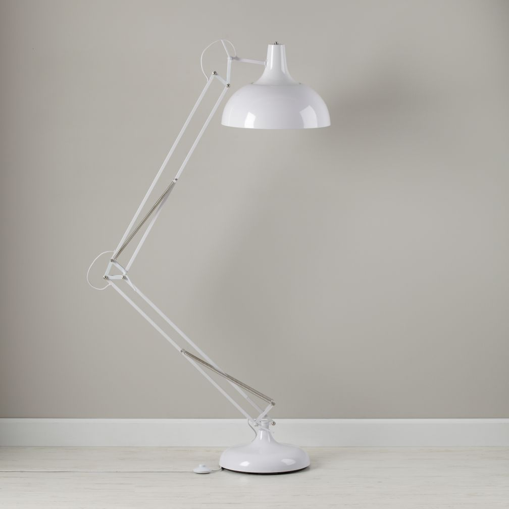 White Big Floor Lamp
