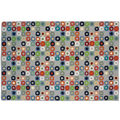 4 x 6' Round and Round Rug (Lt. Blue)