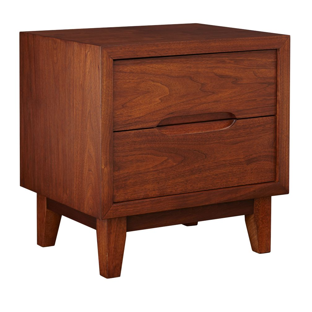 Walnut Ellipse Nightstand