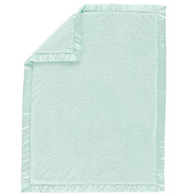 Lt. Green Cuddle Me Softly Baby Blanket