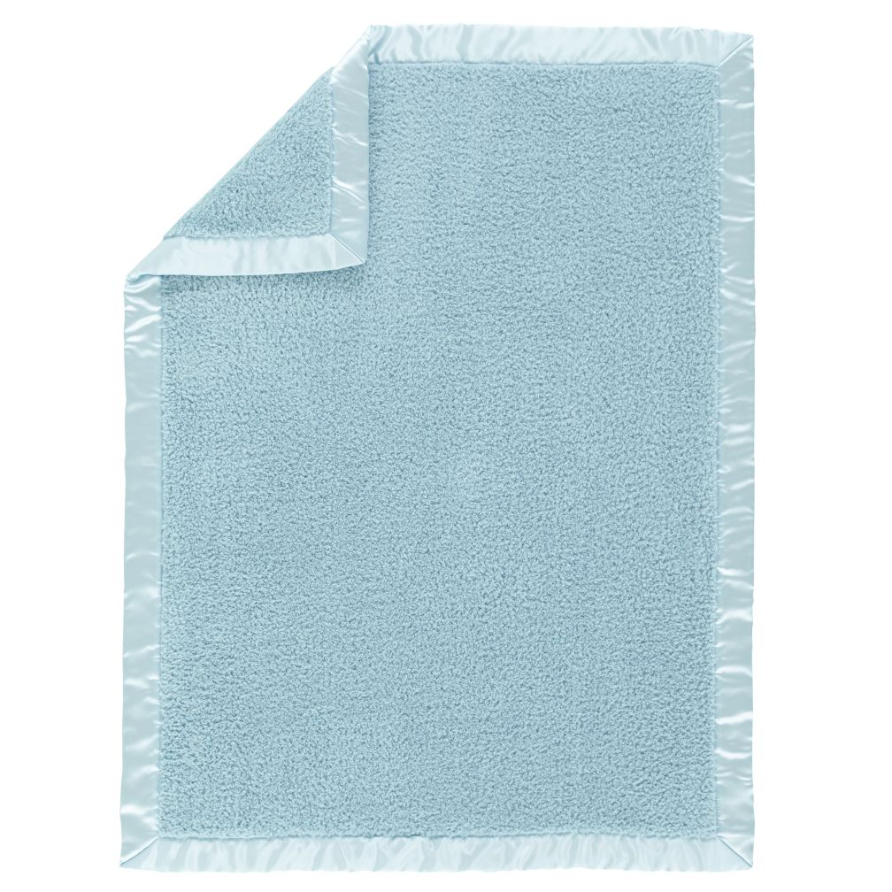 Lt. Blue Cuddle Me Softly Baby Blanket
