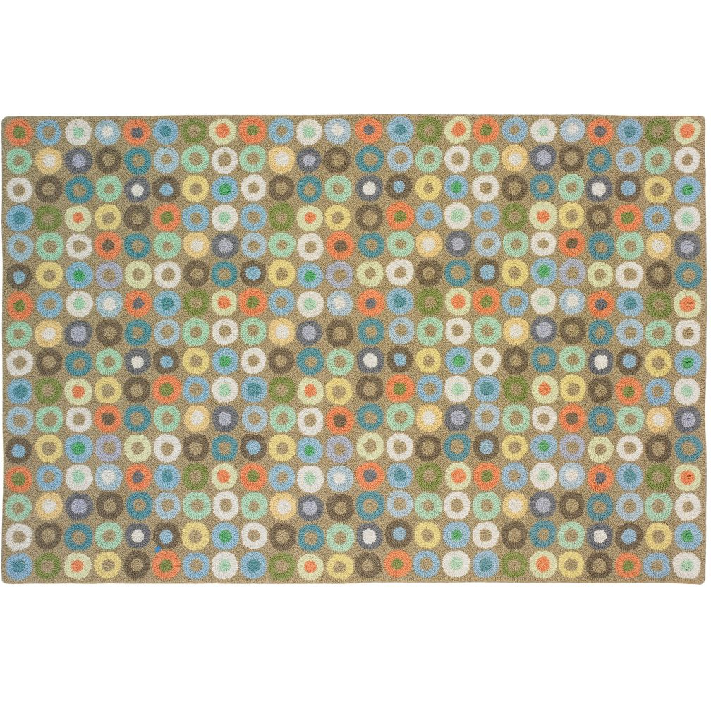 5 x 8&#39; Round and Round  Rug (Khaki)