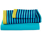Twin Oceanic Sheet SetIncludes fitted sheet, flat sheet and one pillowcase
