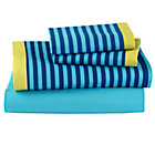 Full Oceanic Sheet SetIncludes fitted sheet, flat sheet and two pillowcases