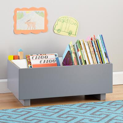 Open Book Bin (Grey)