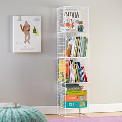 On the Grid Bookcase (White)