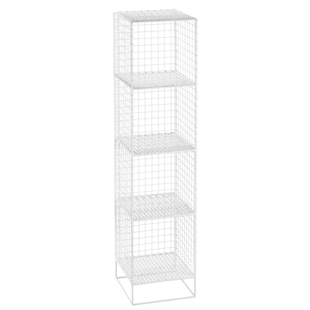 White 4-Cube On the Grid Bookcase