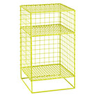 Lime On the Grid Nightstand