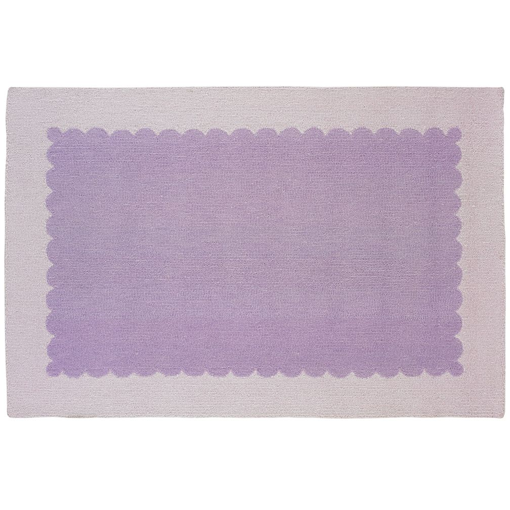 8 x 10&#39; Pretty as a Picture Frame Rug (Lavender)