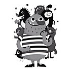 Monster Mischief Wall Decal