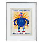 Blue Retrobot Wall Art