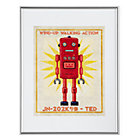 Red Retrobot Wall Art
