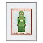 Green Retrobot Wall Art