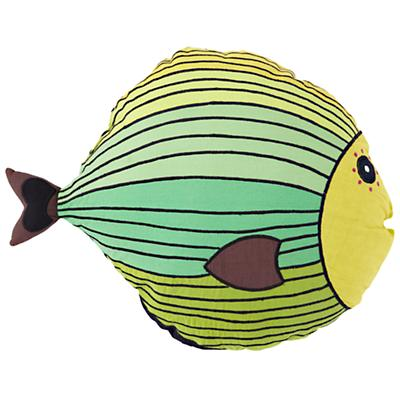 Green Fish Throw Pillow