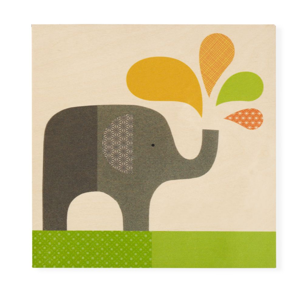 Personalized Wall Plaque (Elephant)