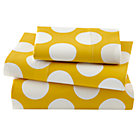Toddler Yellow with  White Dot Sheet Set(includes 1 fitted sheet, 1 flat sheet and 1 toddler pillowcase)