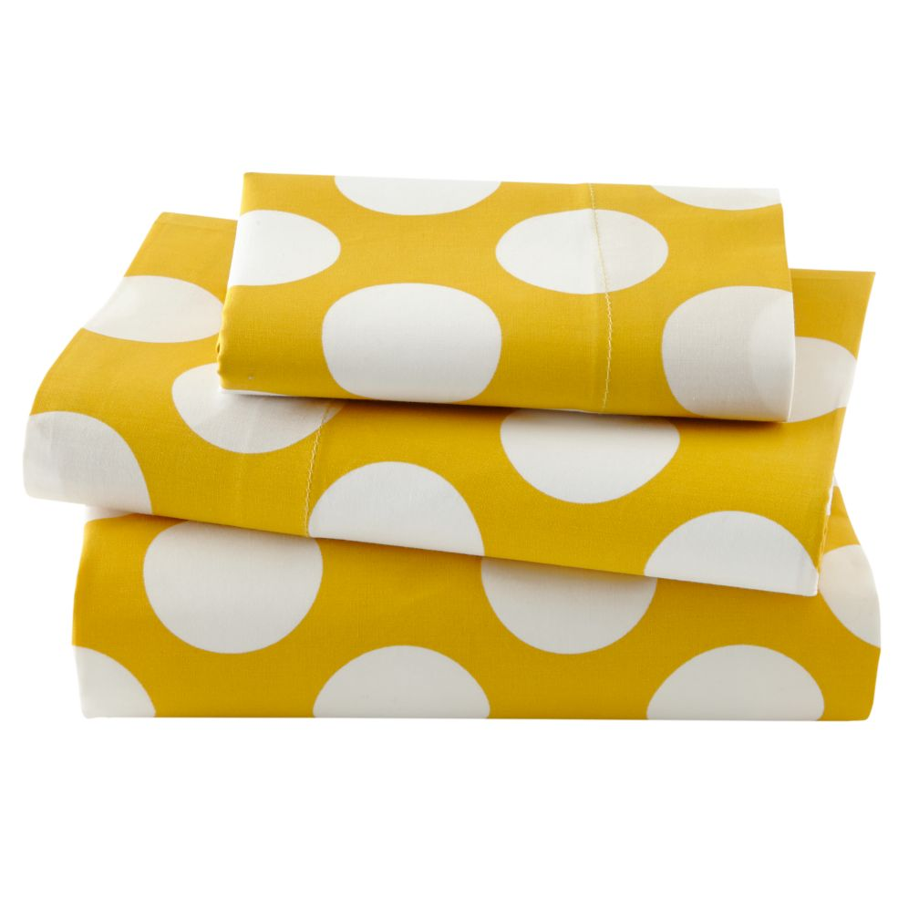 New School Toddler Sheet Set (Yellow Dot)